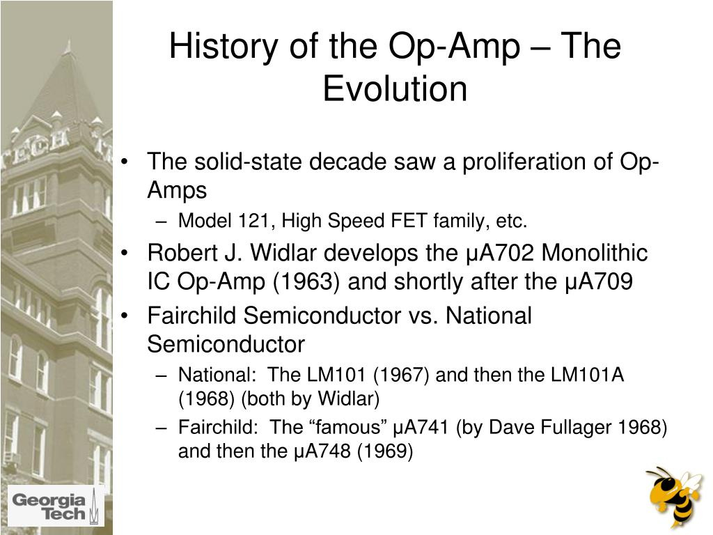 History of the Op-Amp – The Evolution