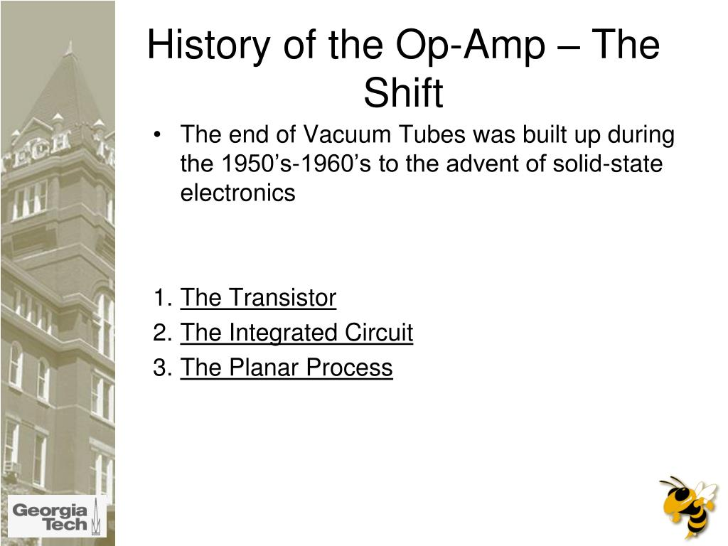History of the Op-Amp – The Shift