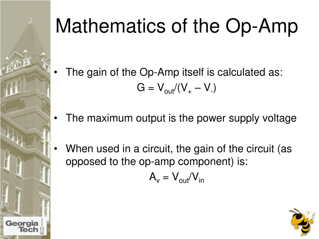 Mathematics of the Op-Amp
