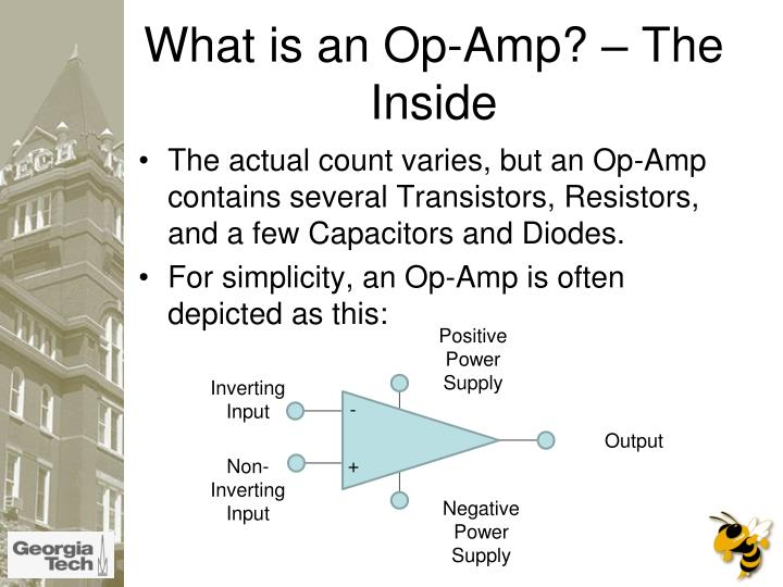What is an op amp the inside l.jpg