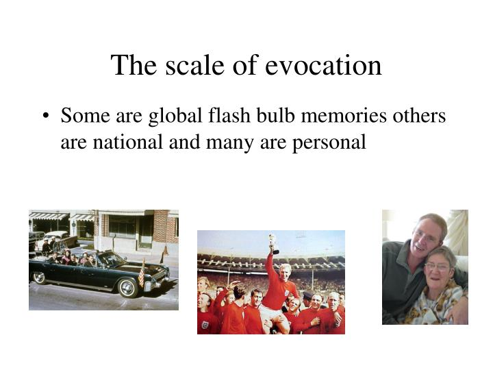 The scale of evocation