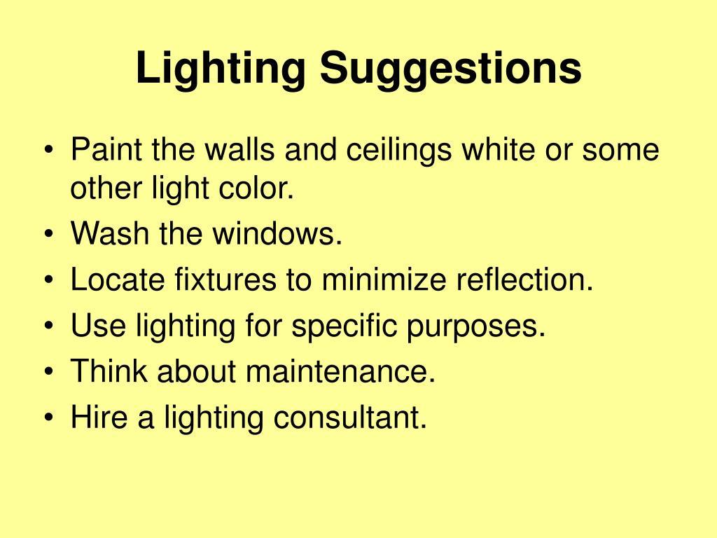 Lighting Suggestions