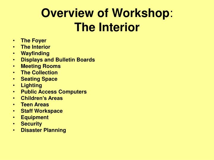 Overview of workshop the interior l.jpg