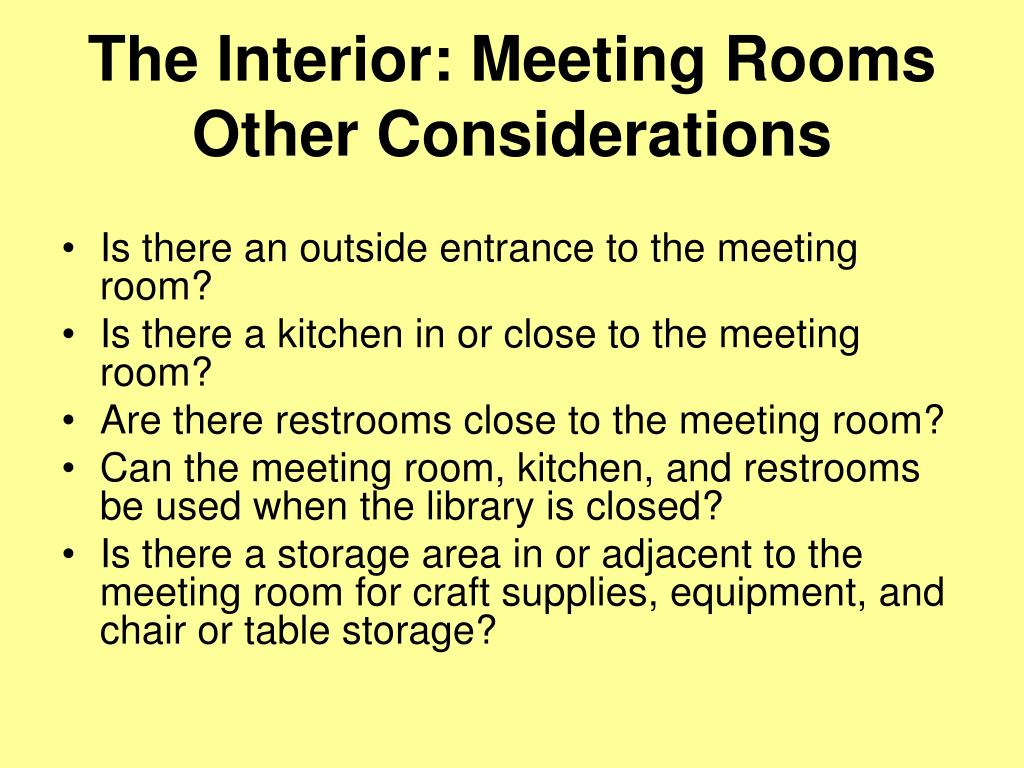 The Interior: Meeting Rooms
