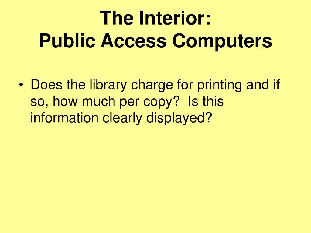 The Interior: