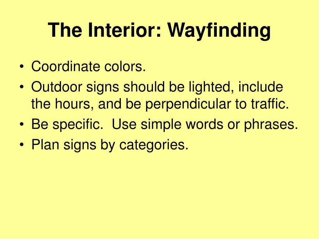 The Interior: Wayfinding