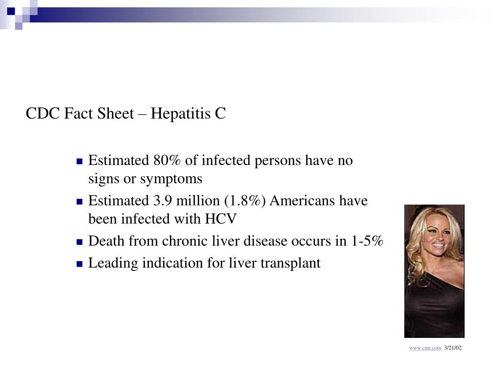 CDC Fact Sheet – Hepatitis C