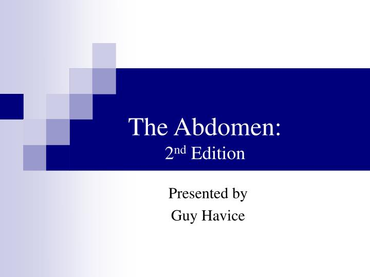 The abdomen 2 nd edition