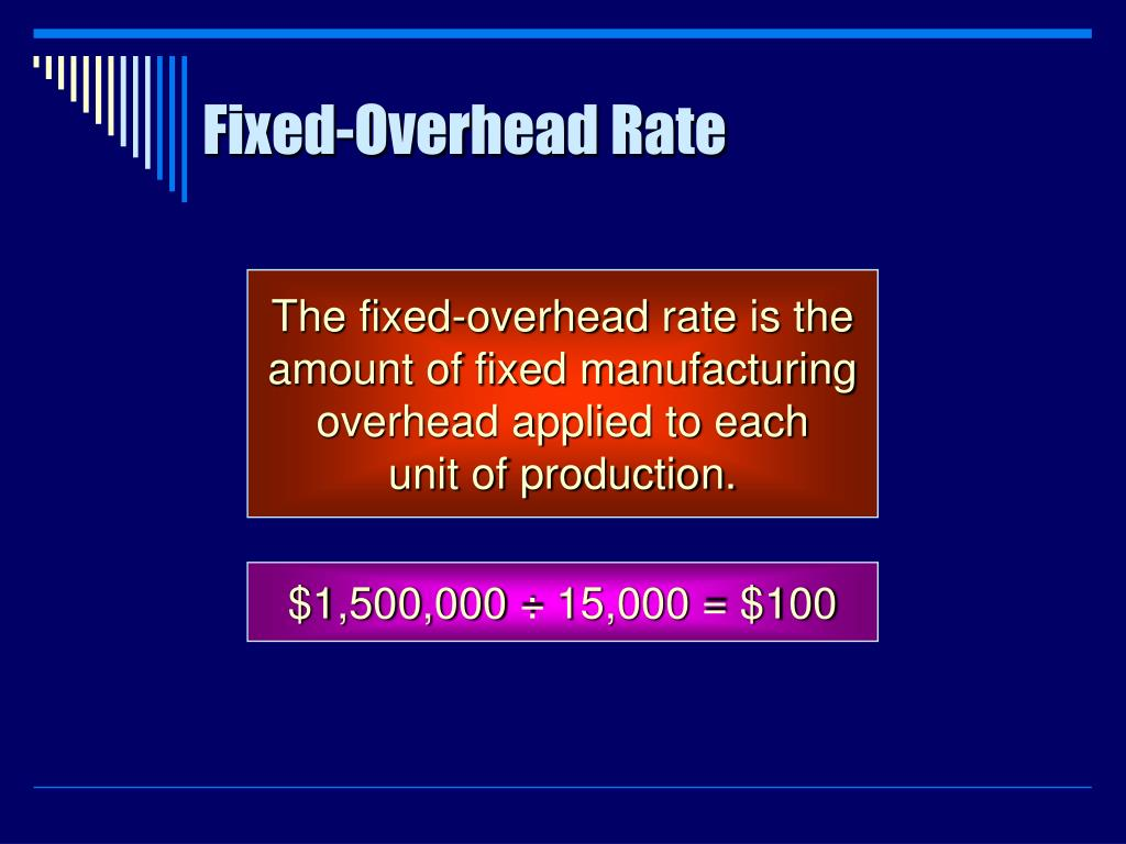 Fixed-Overhead Rate