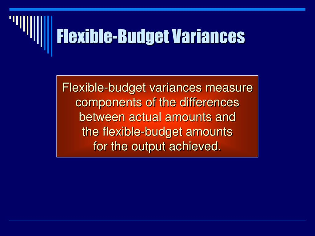 Flexible-Budget Variances