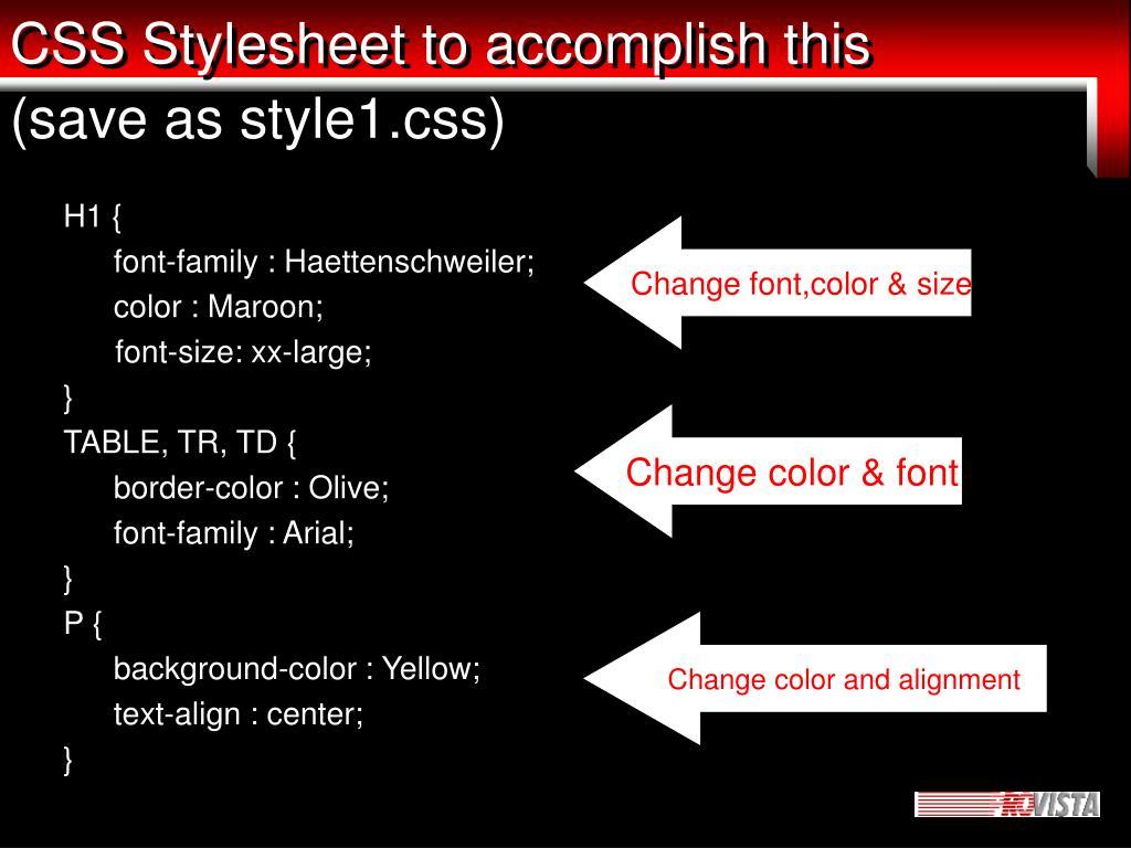 CSS Stylesheet to accomplish this