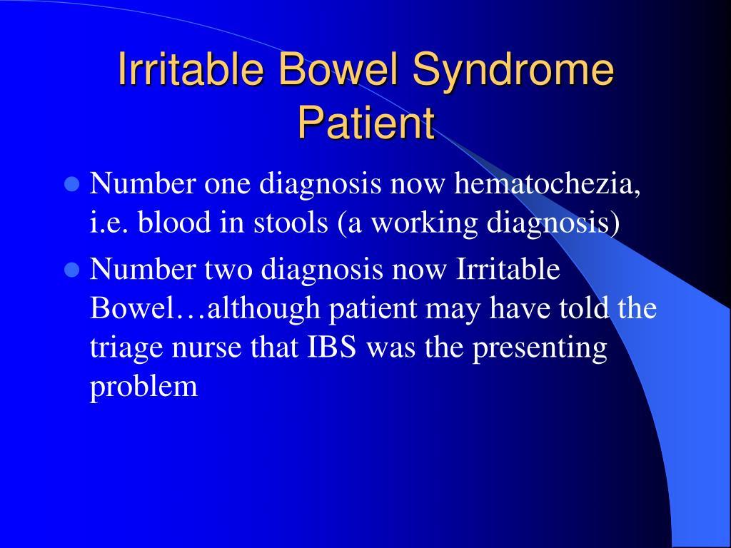 Irritable Bowel Syndrome Patient