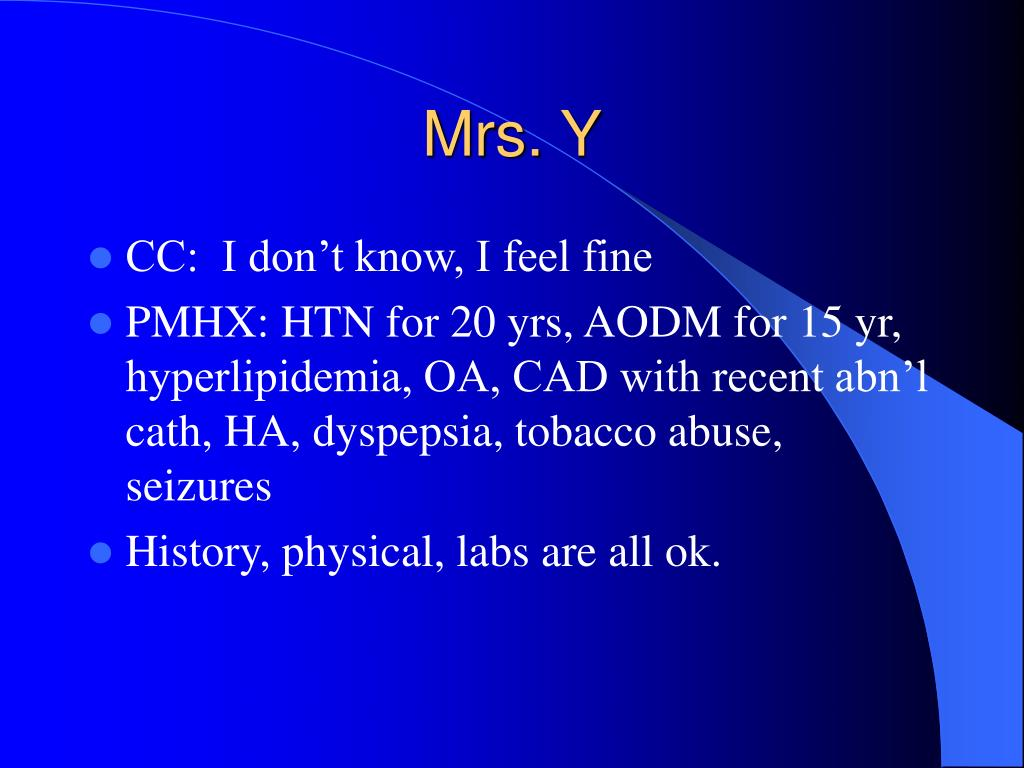 Mrs. Y