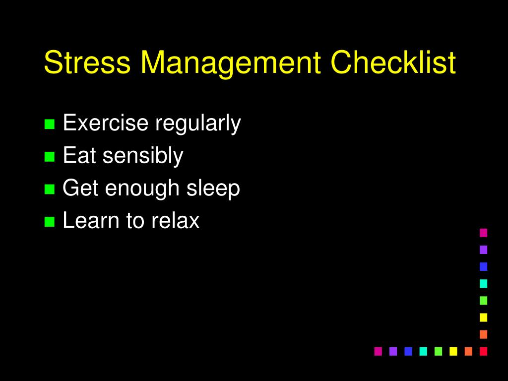 Stress Management Checklist