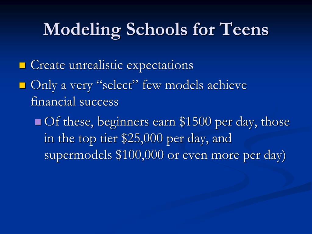 Modeling Schools for Teens