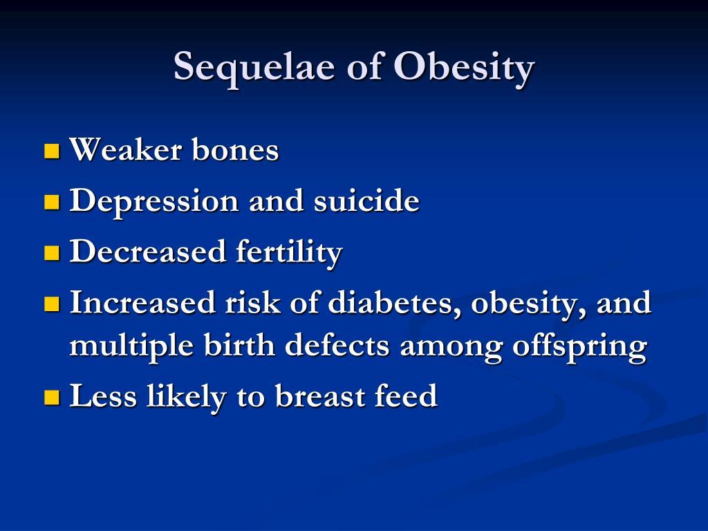 Sequelae of Obesity