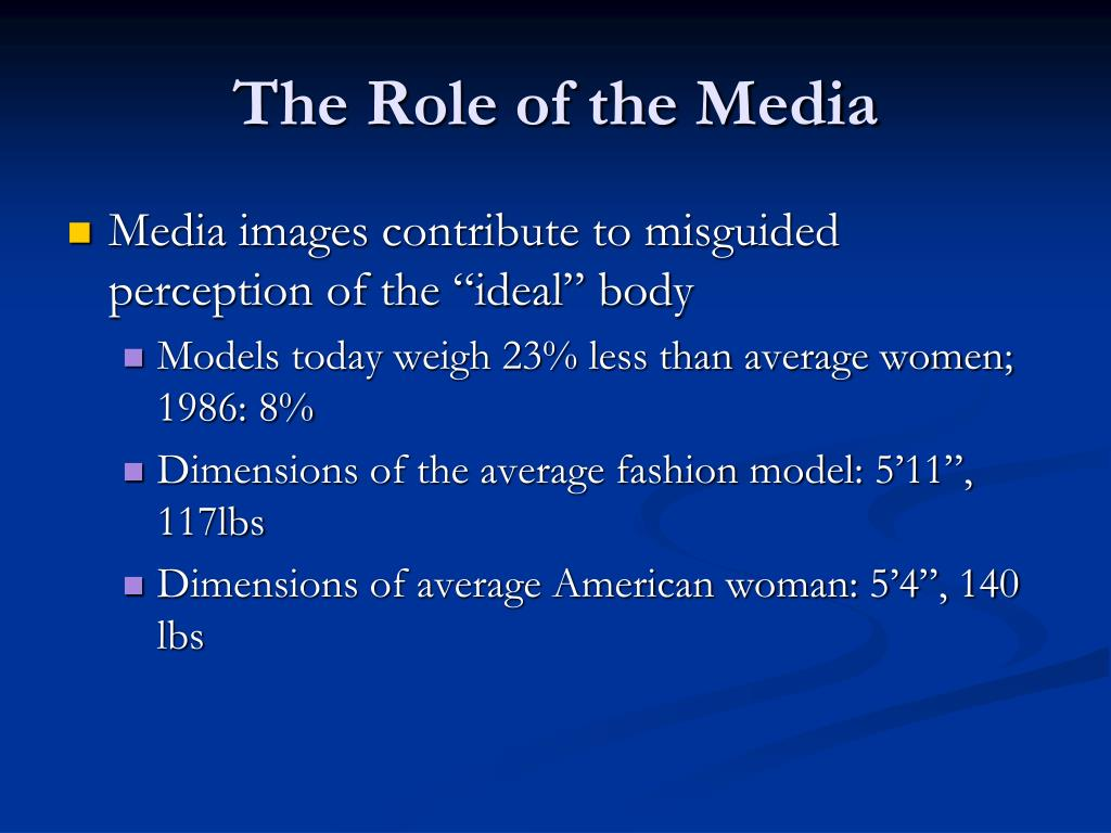 The Role of the Media