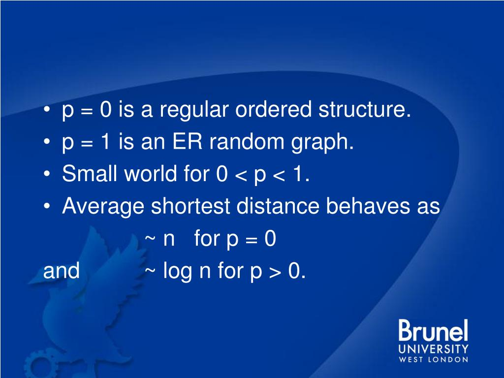 p = 0 is a regular ordered structure.