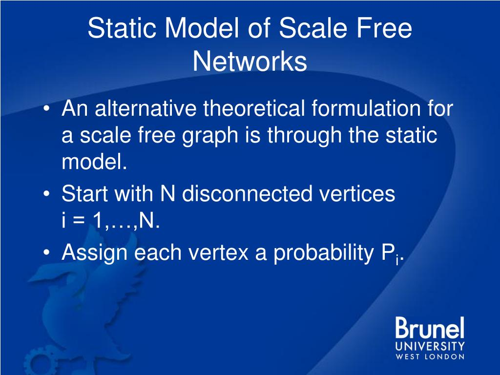 Static Model of Scale Free Networks