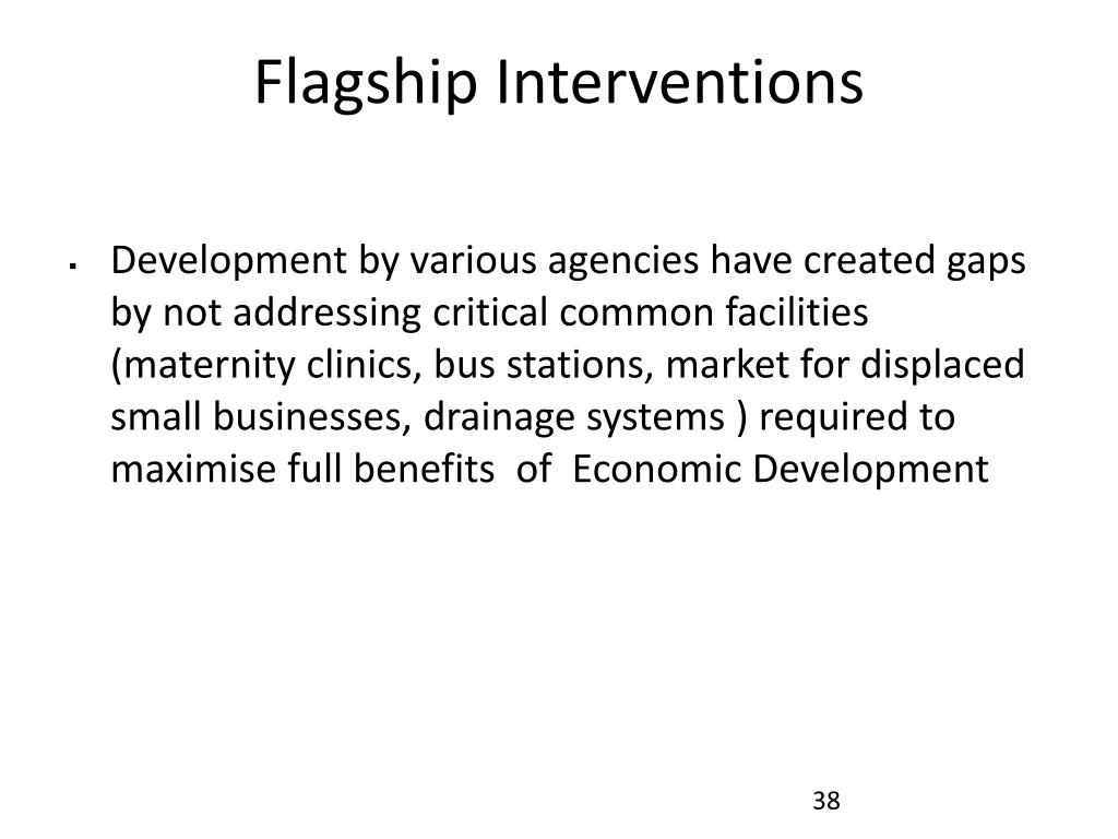 Flagship Interventions