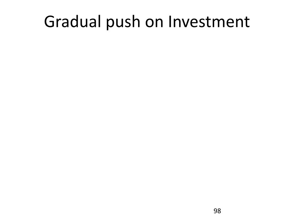 Gradual push on Investment