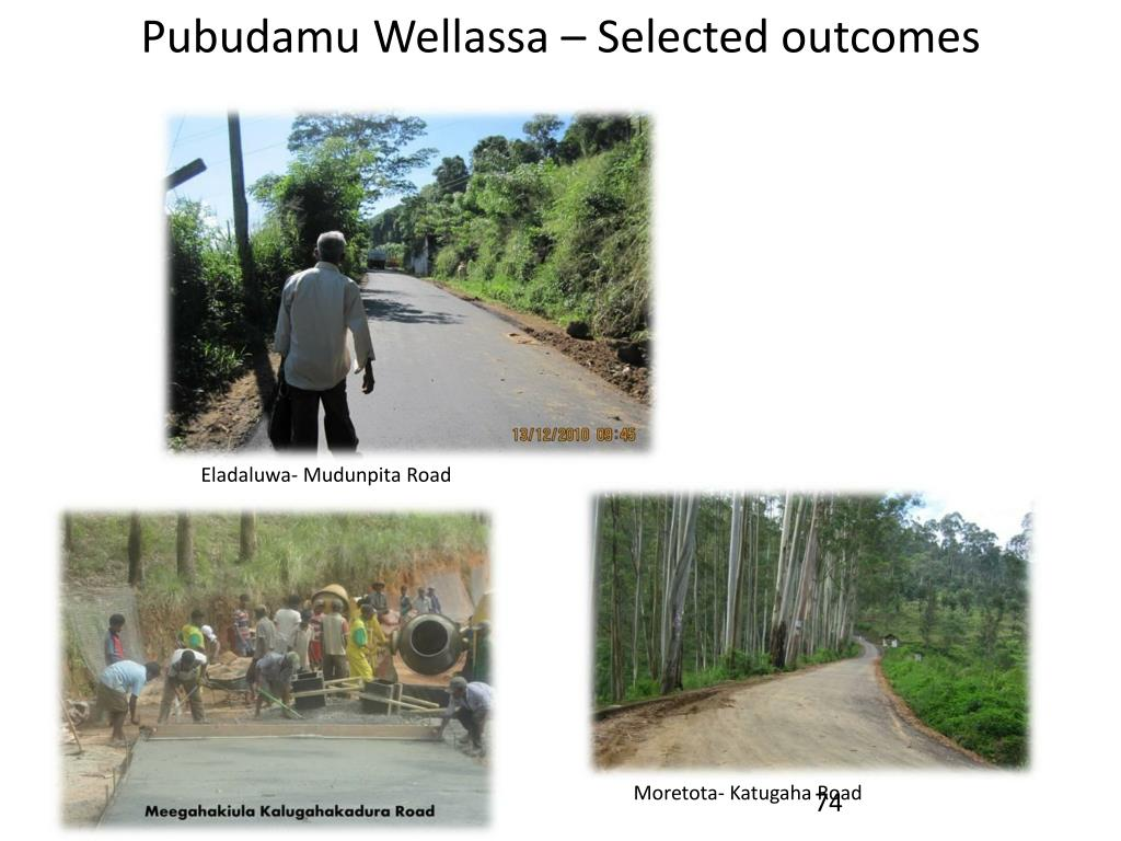 Pubudamu Wellassa – Selected outcomes