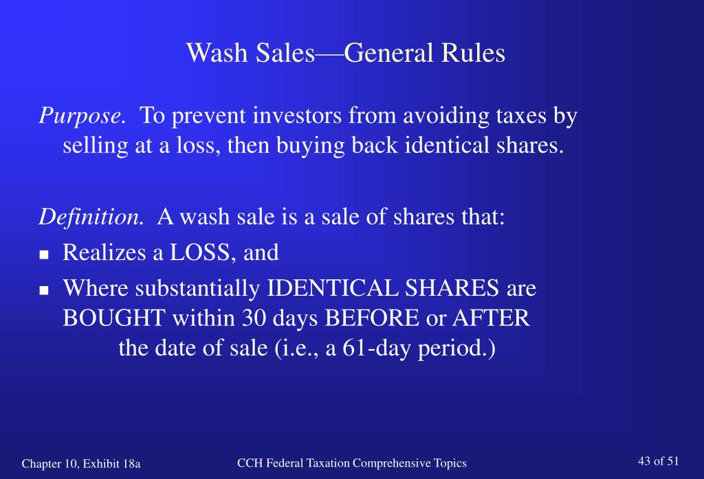 Wash sale employee stock options