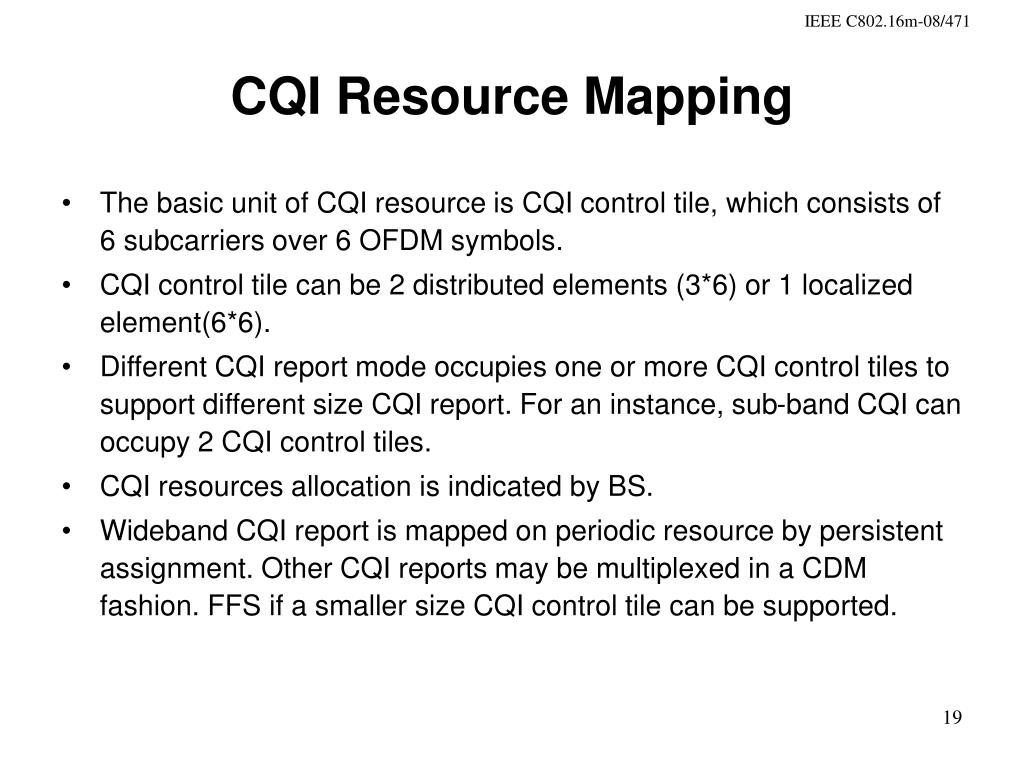 CQI Resource Mapping