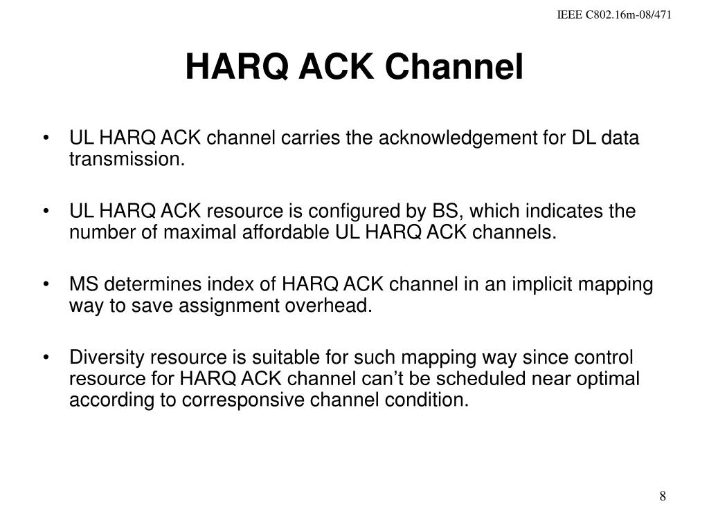 HARQ ACK Channel