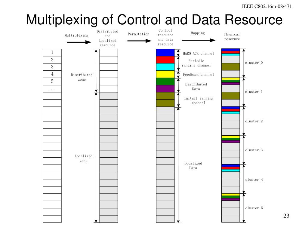 Multiplexing of Control and Data Resource