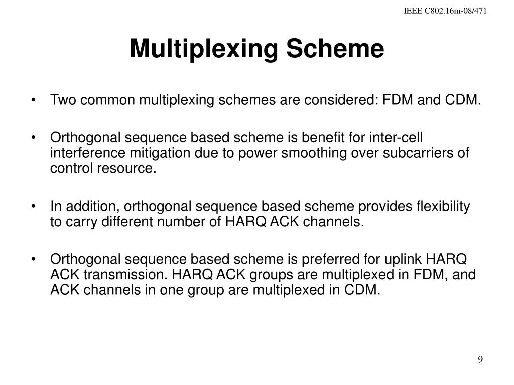 Multiplexing Scheme