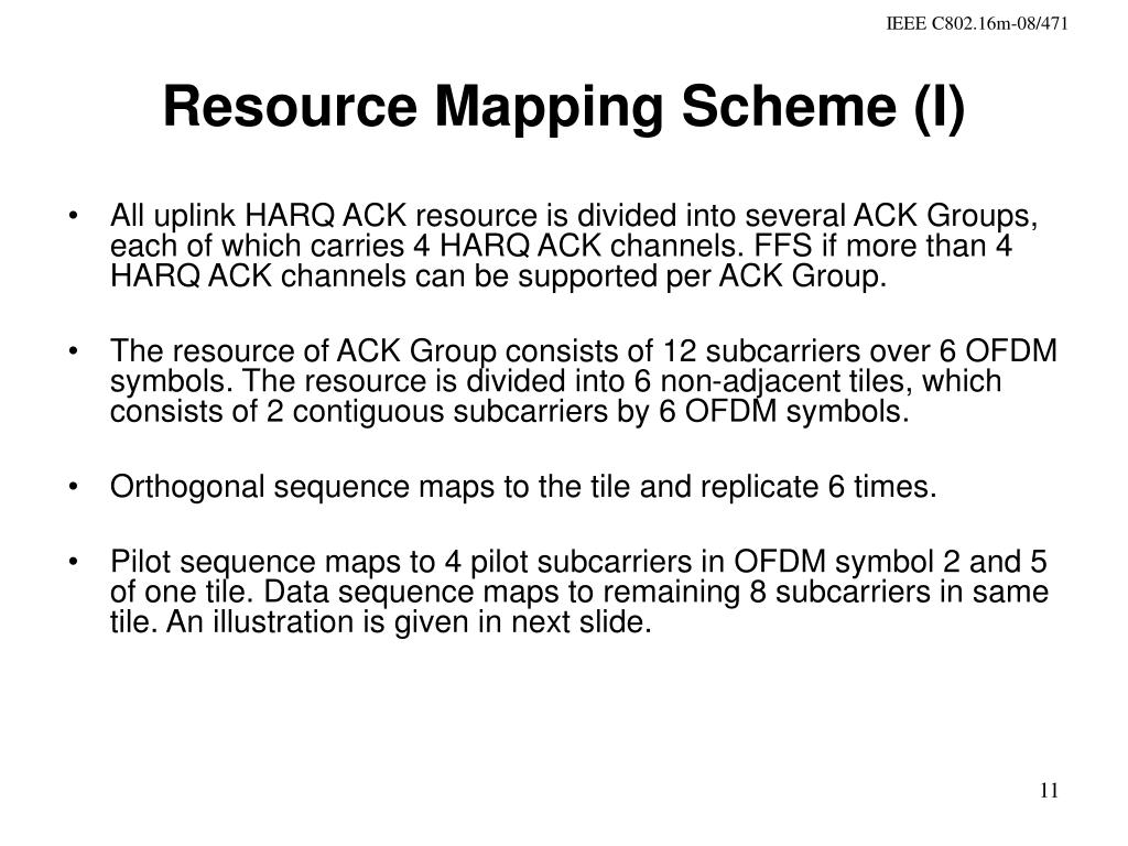 Resource Mapping Scheme (I)