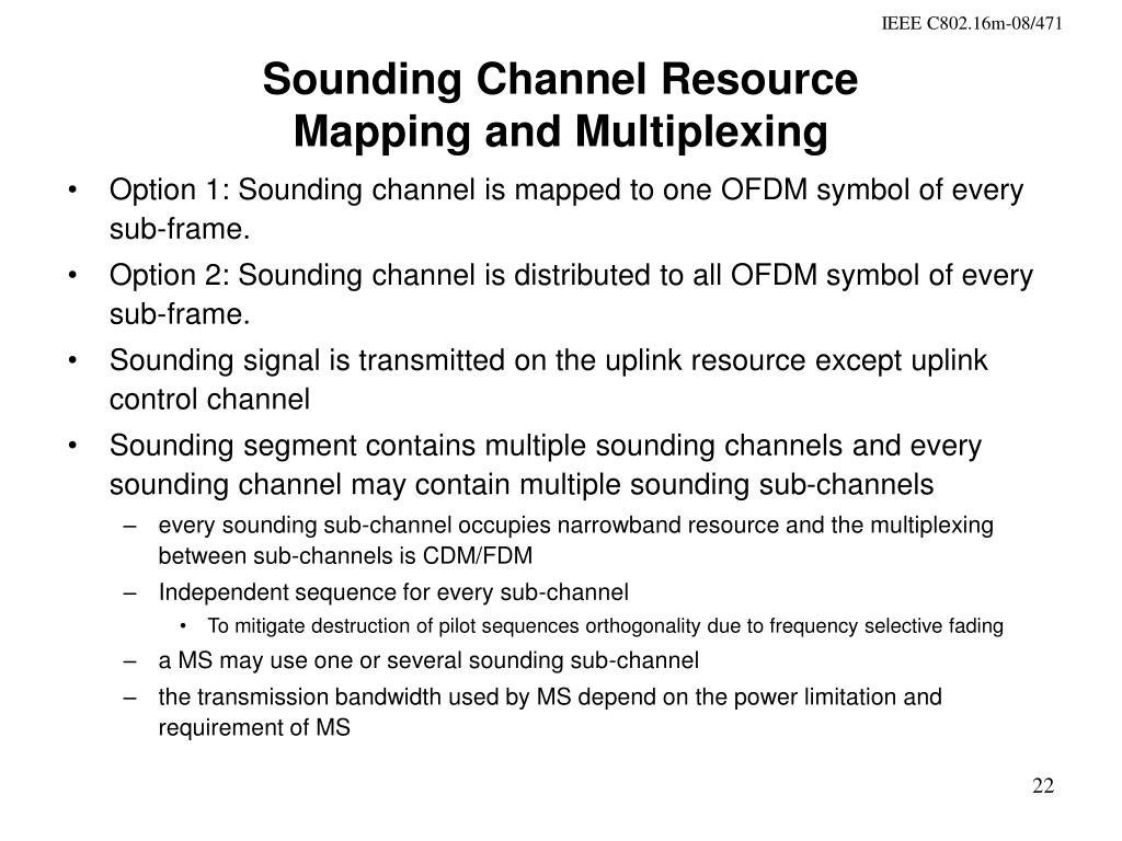 Sounding Channel Resource