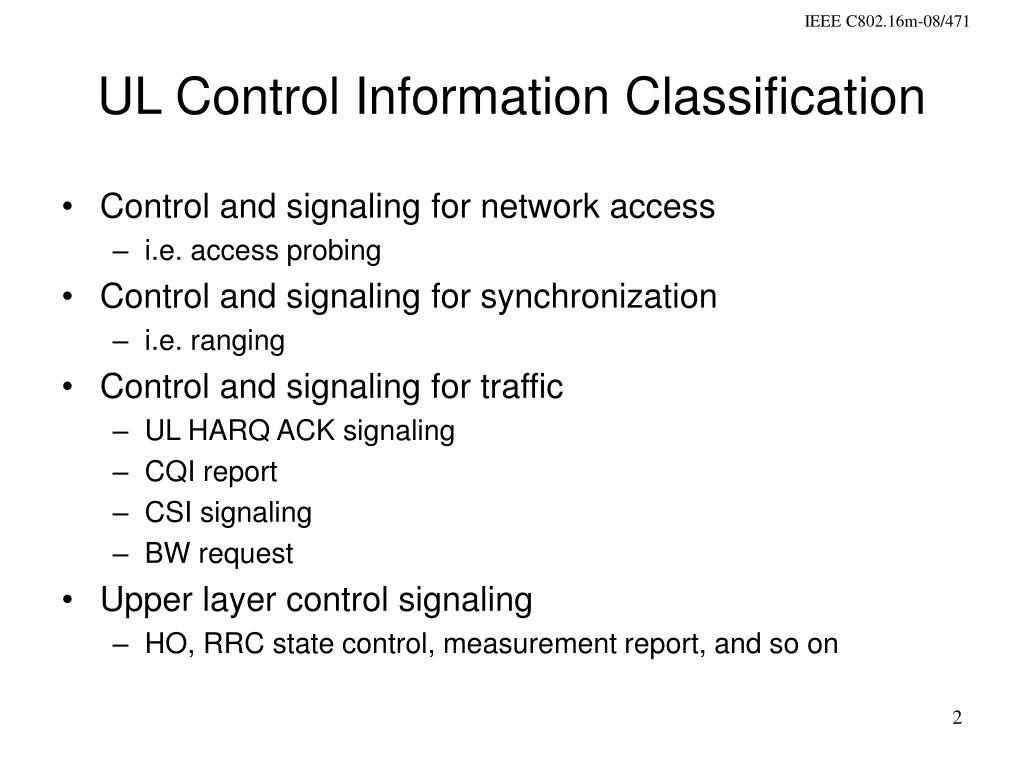 UL Control Information Classification