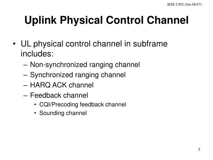 Uplink physical control channel