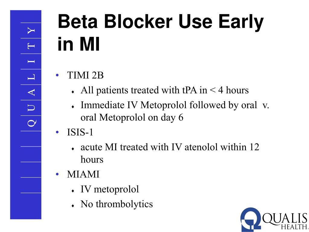 Beta Blocker Use Early in MI