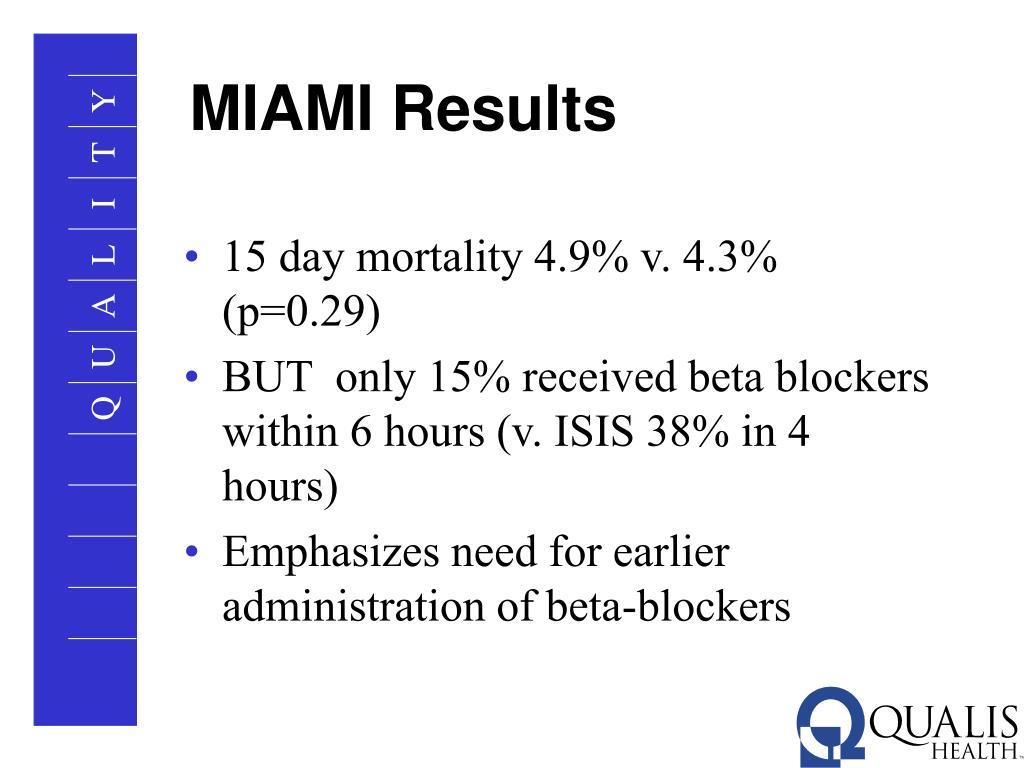 MIAMI Results