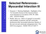 selected references myocardial infarction iii