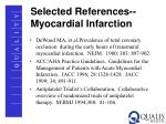selected references myocardial infarction
