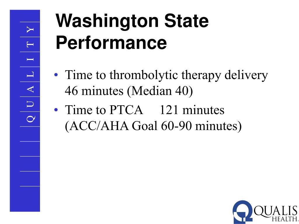 Washington State Performance