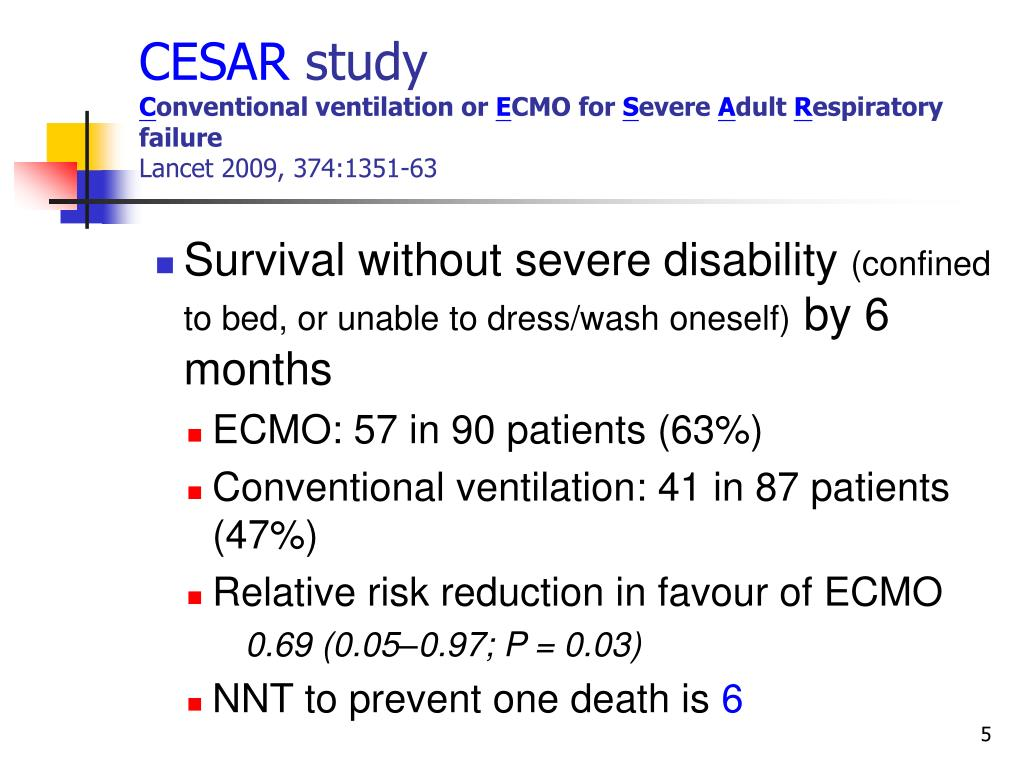CESAR: Conventional ventilatory support versus ...