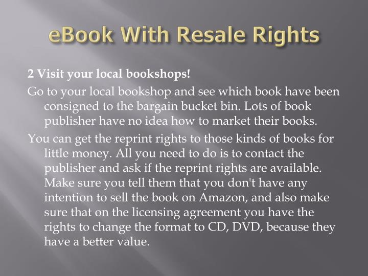 Ebook with resale rights3