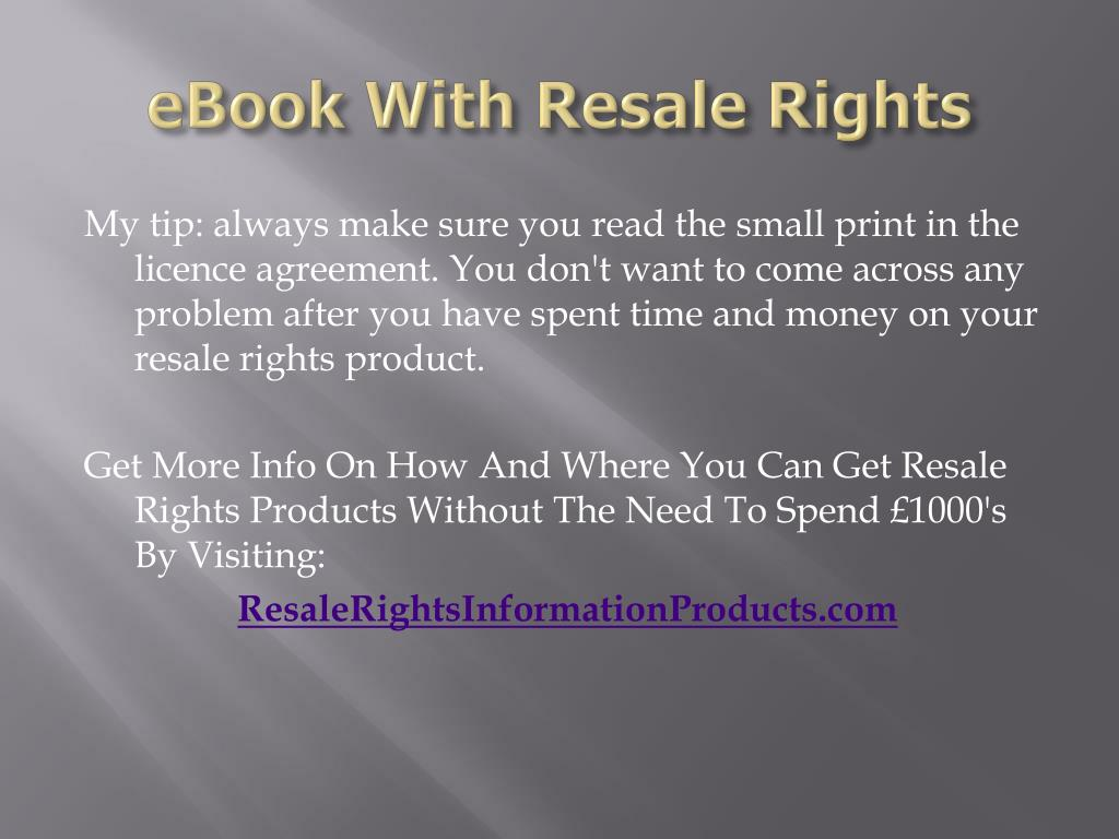 eBook With Resale Rights