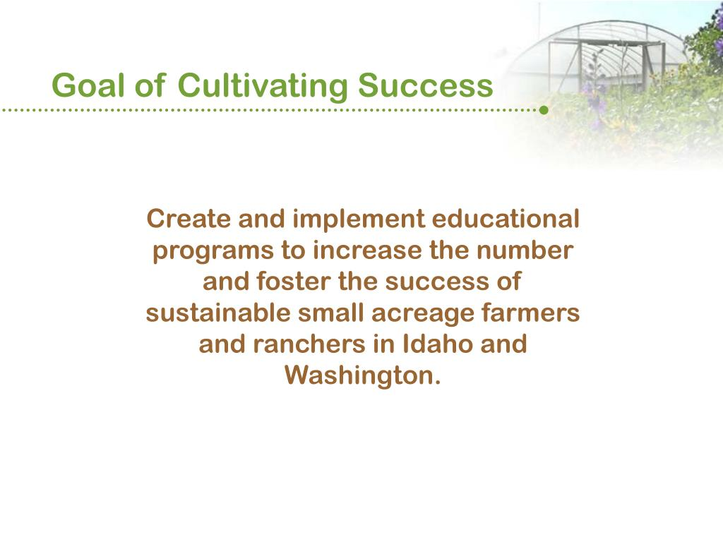 Goal of Cultivating Success