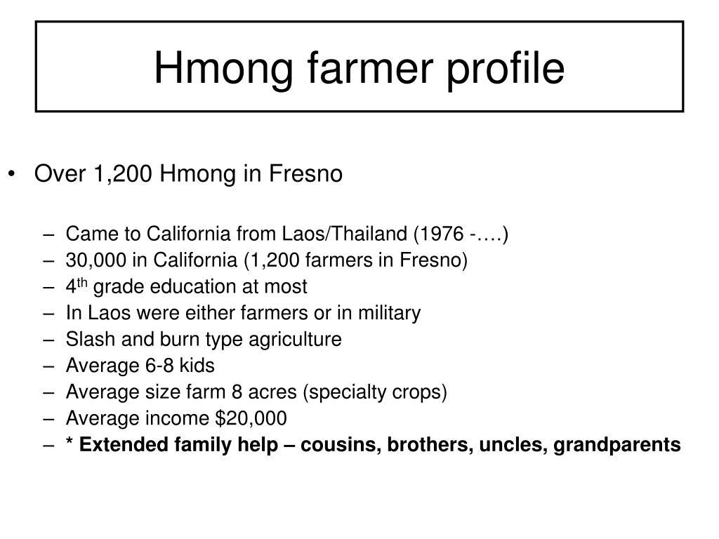 Hmong farmer profile