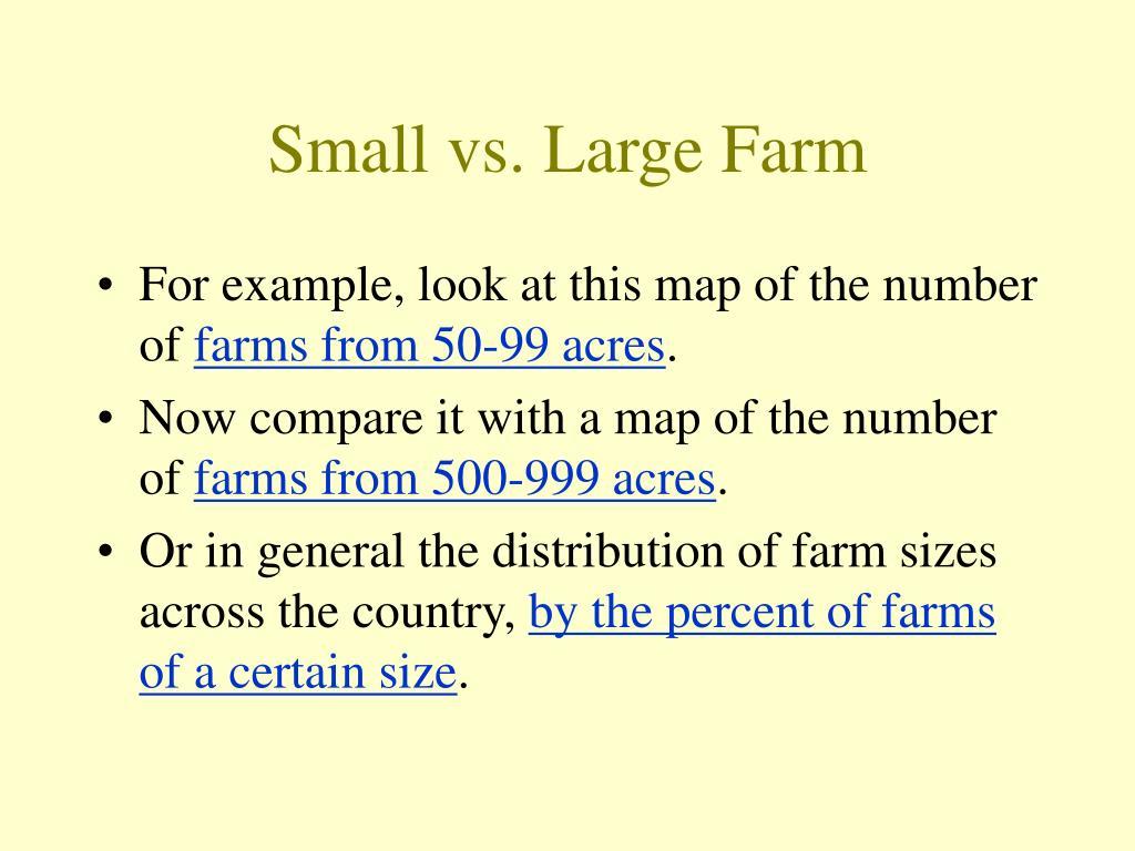 Small vs. Large Farm