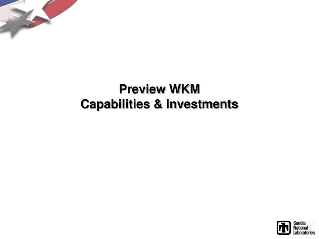 Preview WKM