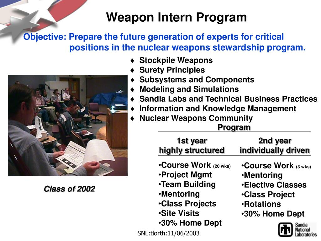 Weapon Intern Program