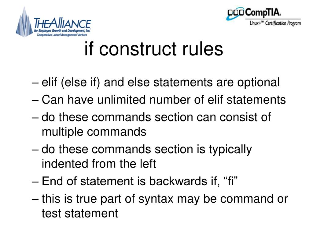 if construct rules