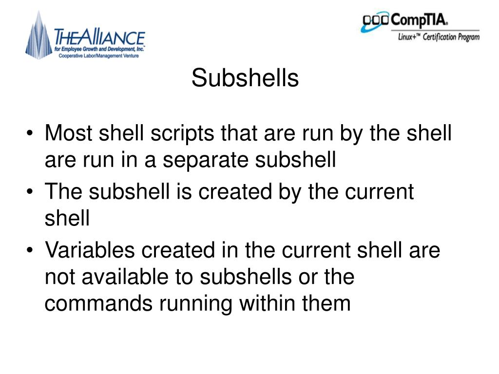 Subshells